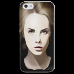"""Чехол для iPhone 5 глянцевый, с полной запечаткой """"Cara Delevingne, Кара Делевинь"""" - модель, cara delevingne, кара делевинь"""