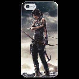 """Чехол для iPhone 5 глянцевый, с полной запечаткой """"Tomb Raider"""" - игры, tomb raider"""