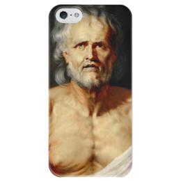"Чехол для iPhone 5 глянцевый, с полной запечаткой ""Умирающий Сенека"" - картина, рубенс"