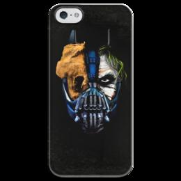 """Чехол для iPhone 5 глянцевый, с полной запечаткой """"Джокер (Бэтмен)"""" - batman, джокер, бэтмен, mortal kombat, темный рыцарь"""