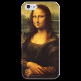 "Чехол для iPhone 5 глянцевый, с полной запечаткой ""Mona Lisa"" - мона лиза, джоконда, mona lisa"