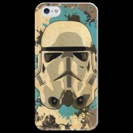 """Чехол для iPhone 5 глянцевый, с полной запечаткой """"Воин Империи"""" - кино, фантастика, воин, империя, звёздные войны"""