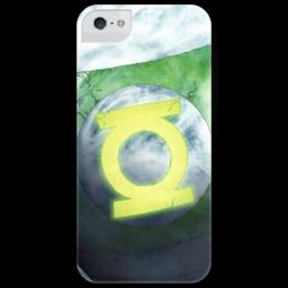 "Чехол для iPhone 5 глянцевый, с полной запечаткой ""Green Lantern "" - comics, green, dc, lantern, green lantern, зелёный фонарь"