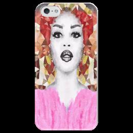 """Чехол для iPhone 5 глянцевый, с полной запечаткой """"Наоми"""" - белый, черный, розовый, коричневый"""