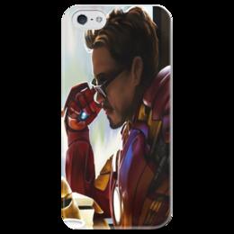 """Чехол для iPhone 5 глянцевый, с полной запечаткой """"IronMan.Art"""" - комикс, комиксы, фильм, фильмы, железный человек, tony stark, тони старк, ironman"""