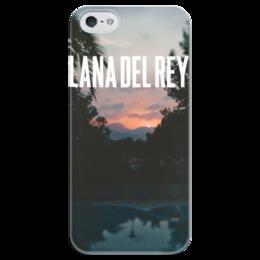 """Чехол для iPhone 5 глянцевый, с полной запечаткой """"Lana Del Rey"""" - природа, закат, lana del rey, лана, лана дель рей"""