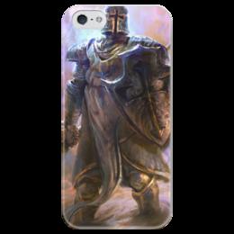 """Чехол для iPhone 5 глянцевый, с полной запечаткой """"Крестоносец"""" - blizzard, диабло, близзард, diablo iii, crusader"""