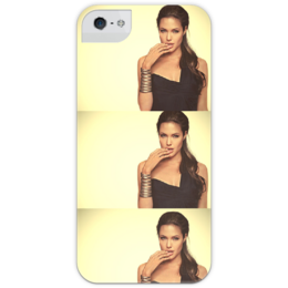"""Чехол для iPhone 5 глянцевый, с полной запечаткой """"Джоли"""" - angelina jolie, анджелина джоли, sexy, актриса"""