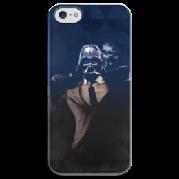 """Чехол для iPhone 5 глянцевый, с полной запечаткой """"Dart Weider (Дарт Вейдер)"""" - череп, darth vader, звездные войны, дарт вейдер, рыцарь-джедай"""