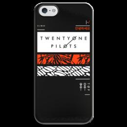 """Чехол для iPhone 5 глянцевый, с полной запечаткой """"Twenty One Pilots"""" - музыка, группы, twenty one pilots, twenty øne piløts"""