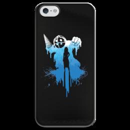 """Чехол для iPhone 5 глянцевый, с полной запечаткой """"Bioshock"""" - биошок, шутер, элизабет"""