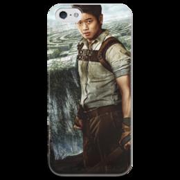 """Чехол для iPhone 5 глянцевый, с полной запечаткой """"Бегущий в лабиринте / The Maze Runner"""" - рисунок, кино, фэнтези"""