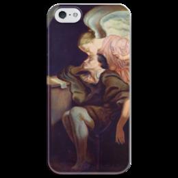 "Чехол для iPhone 5 глянцевый, с полной запечаткой ""Поцелуй Музы"" - картина, сезанн"