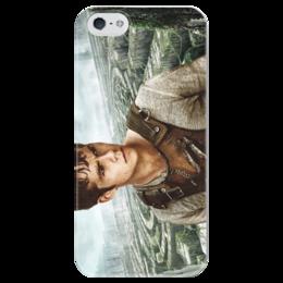 """Чехол для iPhone 5 глянцевый, с полной запечаткой """"Бегущий в лабиринте / The Maze Runner"""" - рисунок, кино, бегущий в лабиринте"""