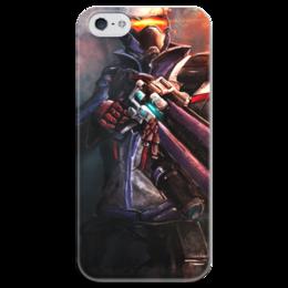 """Чехол для iPhone 5 глянцевый, с полной запечаткой """"Soldier 76"""" - blizzard, близзард, overwatch, овервотч, солдат 76"""