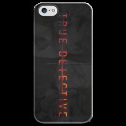 """Чехол для iPhone 5 глянцевый, с полной запечаткой """"Настоящий детектив"""" - true detective, настоящий детектив, мэттью макконехи"""