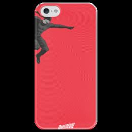 """Чехол для iPhone 5 глянцевый, с полной запечаткой """"Сорвиголова"""" - комиксы, марвел, дардевил, daredevil"""