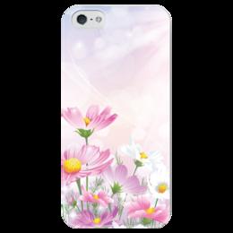 """Чехол для iPhone 5 глянцевый, с полной запечаткой """"Цветочки"""" - цветы"""