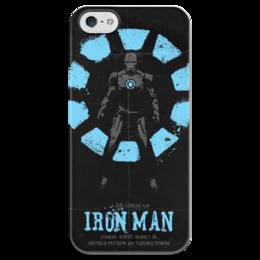"""Чехол для iPhone 5 глянцевый, с полной запечаткой """"Iron Man / Железный Человек"""" - marvel, мстители, железный человек, iron man, kinoart"""