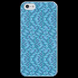 """Чехол для iPhone 5 глянцевый, с полной запечаткой """"Мозайка"""" - узор, стиль, рисунок, мозайка, абстрактный"""