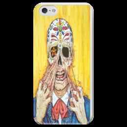 """Чехол для iPhone 5 глянцевый, с полной запечаткой """"""""Парадокс"""""""" - арт, skull, mexican"""