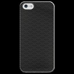 """Чехол для iPhone 5 глянцевый, с полной запечаткой """"Чешуя"""" - узор, рисунок, абстракция, волны, орамент"""