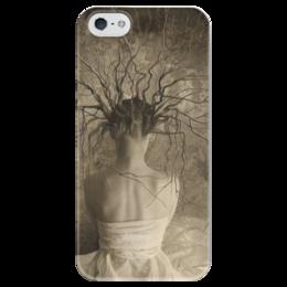"Чехол для iPhone 5 глянцевый, с полной запечаткой ""окаянная "" - арт, girl"