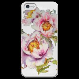 """Чехол для iPhone 5 глянцевый, с полной запечаткой """"Цветочное настроение."""" - арт, лето, цветы, flowers, романтичное, цветочное"""