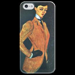 """Чехол для iPhone 5 глянцевый, с полной запечаткой """"Амазонка"""" - картина, модильяни"""