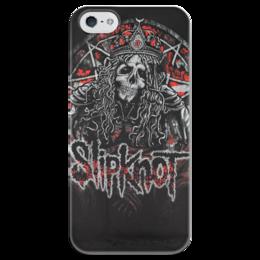 "Чехол для iPhone 5 глянцевый, с полной запечаткой ""Slipknot"" - slipknot, метал, петля, удавка"