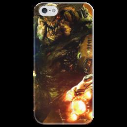 """Чехол для iPhone 5 глянцевый, с полной запечаткой """"Doom 4"""" - doom, шутер, дум, cyberdemon, кибер демон"""