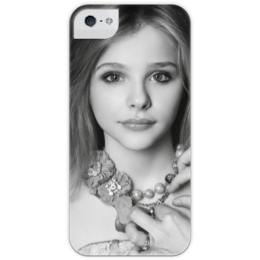 "Чехол для iPhone 5 глянцевый, с полной запечаткой ""Хлоя Грейс Морец"" - chloë moretz, хлоя грейс морец"