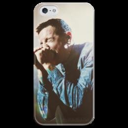 "Чехол для iPhone 5 глянцевый, с полной запечаткой ""Linkin Park"" - rock, chester bennington, lp, linkinpark, честер беннингтон"