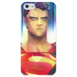 """Чехол для iPhone 5 глянцевый, с полной запечаткой """"Superman """" - comics, супермен, superman, dc, superhero"""