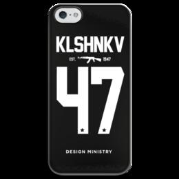 """Чехол для iPhone 5 глянцевый, с полной запечаткой """"KLSHNKV 47 by DESIGN MINISTRY"""" - iphone, ак47, калашников, ak47, designministry"""