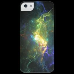 """Чехол для iPhone 5 глянцевый, с полной запечаткой """"Chaotica"""" - nebula, cosmos, space, космос, stars, звезда"""
