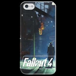 "Чехол для iPhone 5 глянцевый, с полной запечаткой ""Fallout 4 Stranger"" - fallout, stranger, fallout 4"