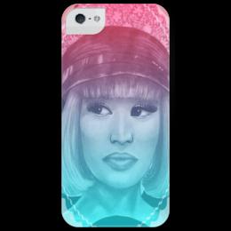 """Чехол для iPhone 5 глянцевый, с полной запечаткой """"Nicki Minaj"""" - арт, hip hop, r&b, ники минаж"""