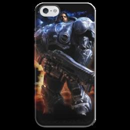 """Чехол для iPhone 5 глянцевый, с полной запечаткой """"StarCraft Terran"""" - starcraft, zerg, starcraft 2, protoss, terran"""