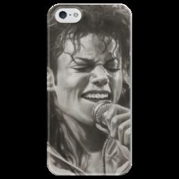 """Чехол для iPhone 5 глянцевый, с полной запечаткой """"Майк Джексон прекрасен"""" - michael jackson, pop, майк джексон, king of pop"""