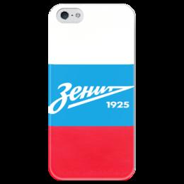 """Чехол для iPhone 5 глянцевый, с полной запечаткой """"Зенит"""" - зенит, россия, санкт-петербург, футбольный клуб, fc zenit"""