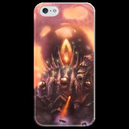 "Чехол для iPhone 5 глянцевый, с полной запечаткой ""К'Тун"" - hearthstone, близзард, хс, c'thun, хертстоун"