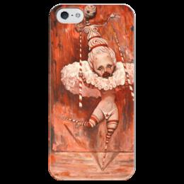 """Чехол для iPhone 5 глянцевый, с полной запечаткой """"Адриан Борда """" - иллюстрация, адриан борда, сюрреалист, adrian borda"""