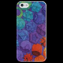 """Чехол для iPhone 5 глянцевый, с полной запечаткой """"Geometry"""" - стиль, в подарок, креативно, геометрия"""