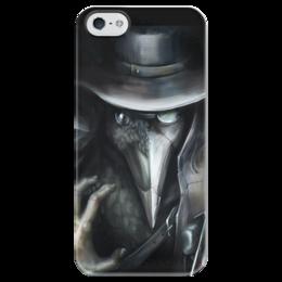 """Чехол для iPhone 5 глянцевый, с полной запечаткой """"Чумной"""" - арт, чумной, доктор, чума, средневековье"""