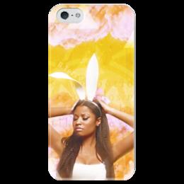 """Чехол для iPhone 5 глянцевый, с полной запечаткой """"Pills N Potion"""" - арт, жёлтый, hip hop, rapper, ники минаж, pills n potion, nicki minaj"""