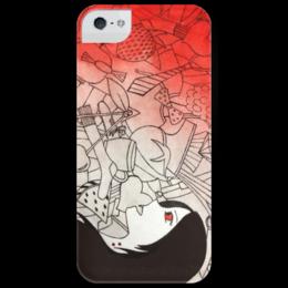 """Чехол для iPhone 5 глянцевый, с полной запечаткой """"Марселин"""" - adventure time, время приключений, marceline, vampire, марселин, королева вампиров"""