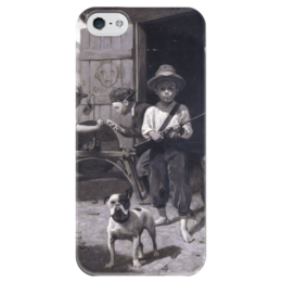 "Чехол для iPhone 5 глянцевый, с полной запечаткой ""Slim Finnegan"" - картина, роквелл"