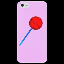 """Чехол для iPhone 5 глянцевый, с полной запечаткой """"Сладкая жизнь"""" - рисунок, сладости, конфета, леденец, карамель"""