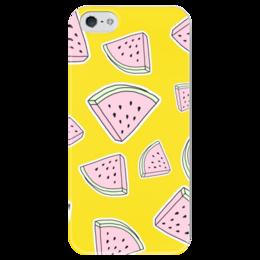"""Чехол для iPhone 5 глянцевый, с полной запечаткой """"Арбузик"""" - арбуз, арбузик"""